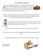 Fichier PDF les cadeaux disparus