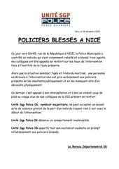 policiers blesses rue de la republique
