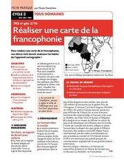 Fichier PDF informatique carte francophonie
