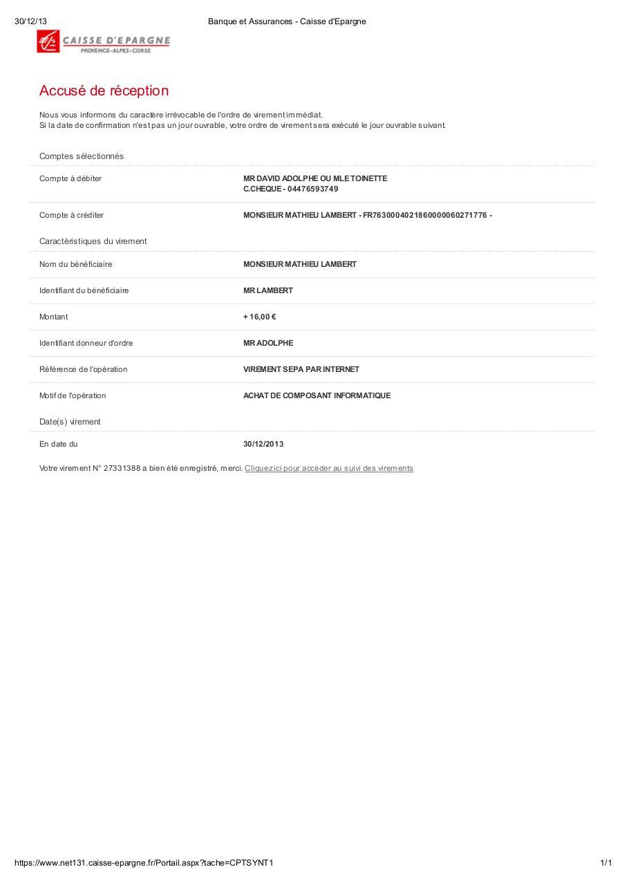 Banque Et Assurances Caisse D Epargne Fichier Pdf