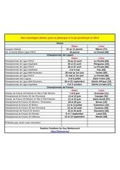 championnats 2014 facebook