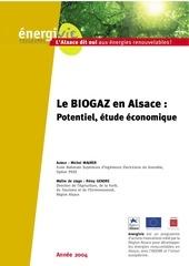 le biogaz en alsace potentiel etude economique