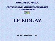 le biogaz royaume du maroc