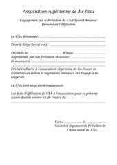 dossier d affiliation
