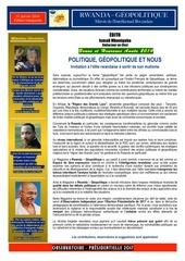 Fichier PDF rwanda geopolitique Edition inaugurale 1