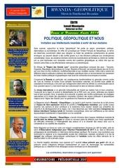 Fichier PDF rwanda geopolitique Edition inaugurale