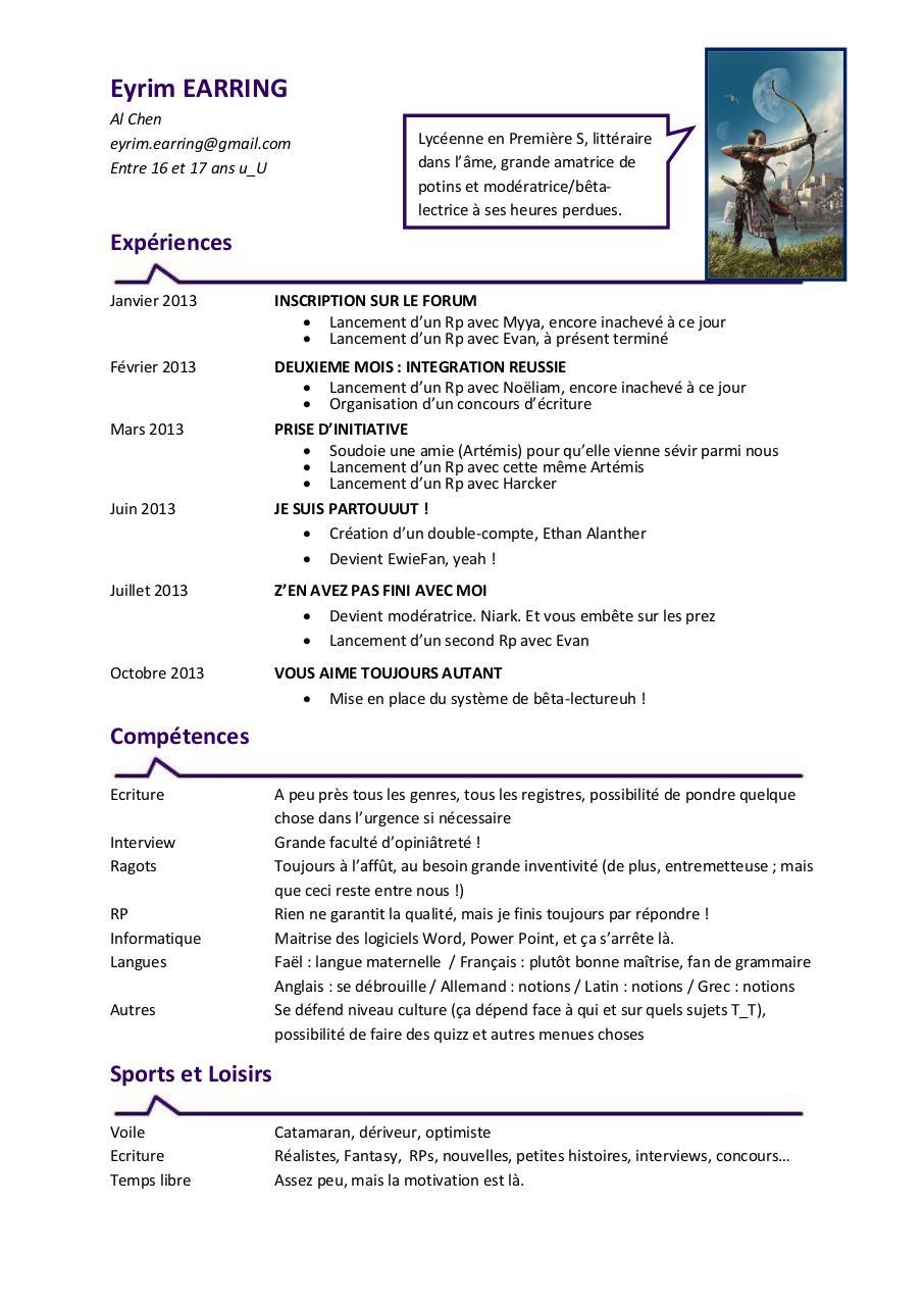 m u00e9lanie embochezmoi par maude - cv eyrim pdf