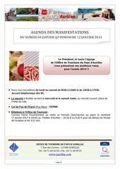 agenda semaine du 05 janvier au 12 janvier 2014