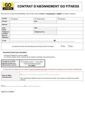 contrat inscription go fitness