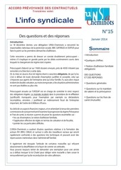 info syndicale n 15 accord prevoyance des contractuels