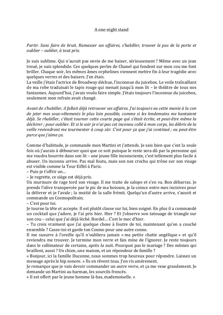 Aperçu du document One-night stand.pdf - page 1/3