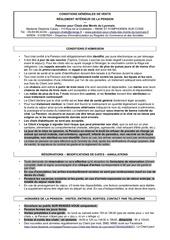 cgv et reglement interieur