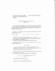 exam s3 analyse 11 12