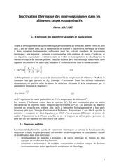 inactivation thermique aspects quantitatifs 2