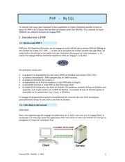 Fichier PDF php mysql