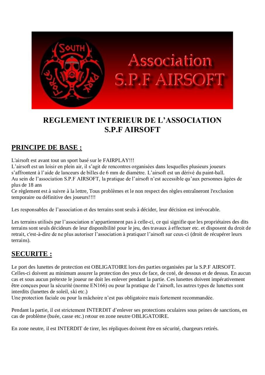 Reglement SPF AIRSOFT.pdf - page 1/4