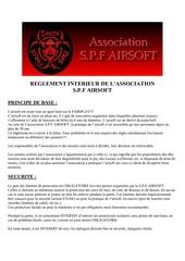 Fichier PDF reglement spf airsoft