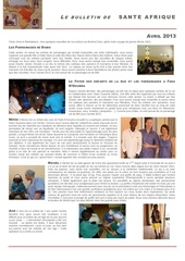 bulletin sante afrique avril 2013