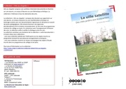 editionsceren la ville satellite