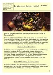 Fichier PDF gazette universelle numero 0 1