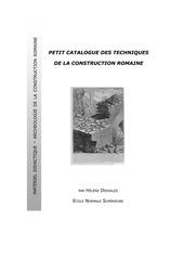 techniques de la construction romaine