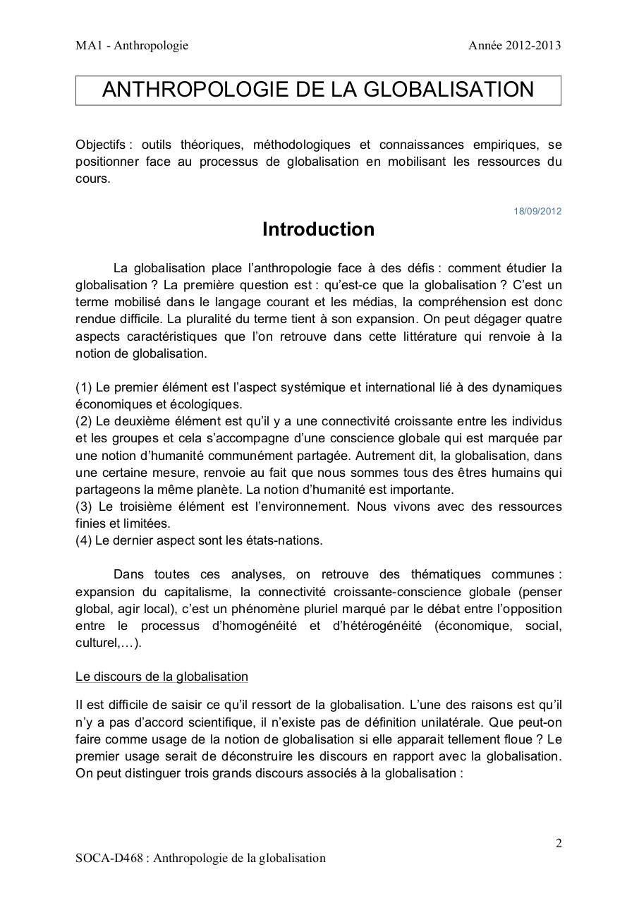 ULB - ANTHROPOLOGIE DE LA GLOBALISATION.pdf - page 2/77