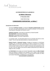 crcommissaire expo nov 2013 1