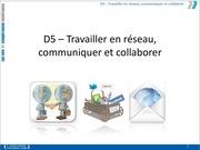 d5 travailler reseau collaborer 2013 2014
