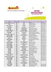liste magasin offre decouverte badabulle janvier 2014