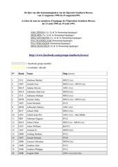 tous les membres d equipage de souther breeze 8 01 2014