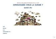 quizz danse