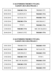 calendrier d1 2 d2 et d3 2013 2014 ph2 trebes tt