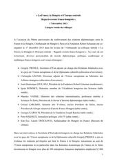 compte rendu conference ambassade hongrie 17 decembre 2013