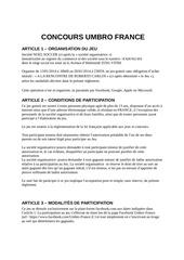 reglement jeu concours facebook roberto carlos