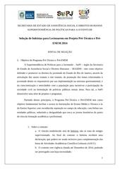 Fichier PDF edital de selec o programa pre tecnico e pre enem supj 2014 1