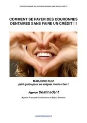 Fichier PDF comment se payer des couronnes sans faire de credit