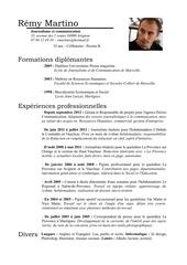 Fichier PDF curriculum vitae