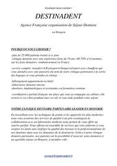 Fichier PDF destinadent pourquoi nous choisir 1