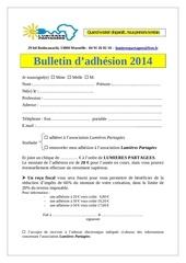 bulletin adhesion 2014