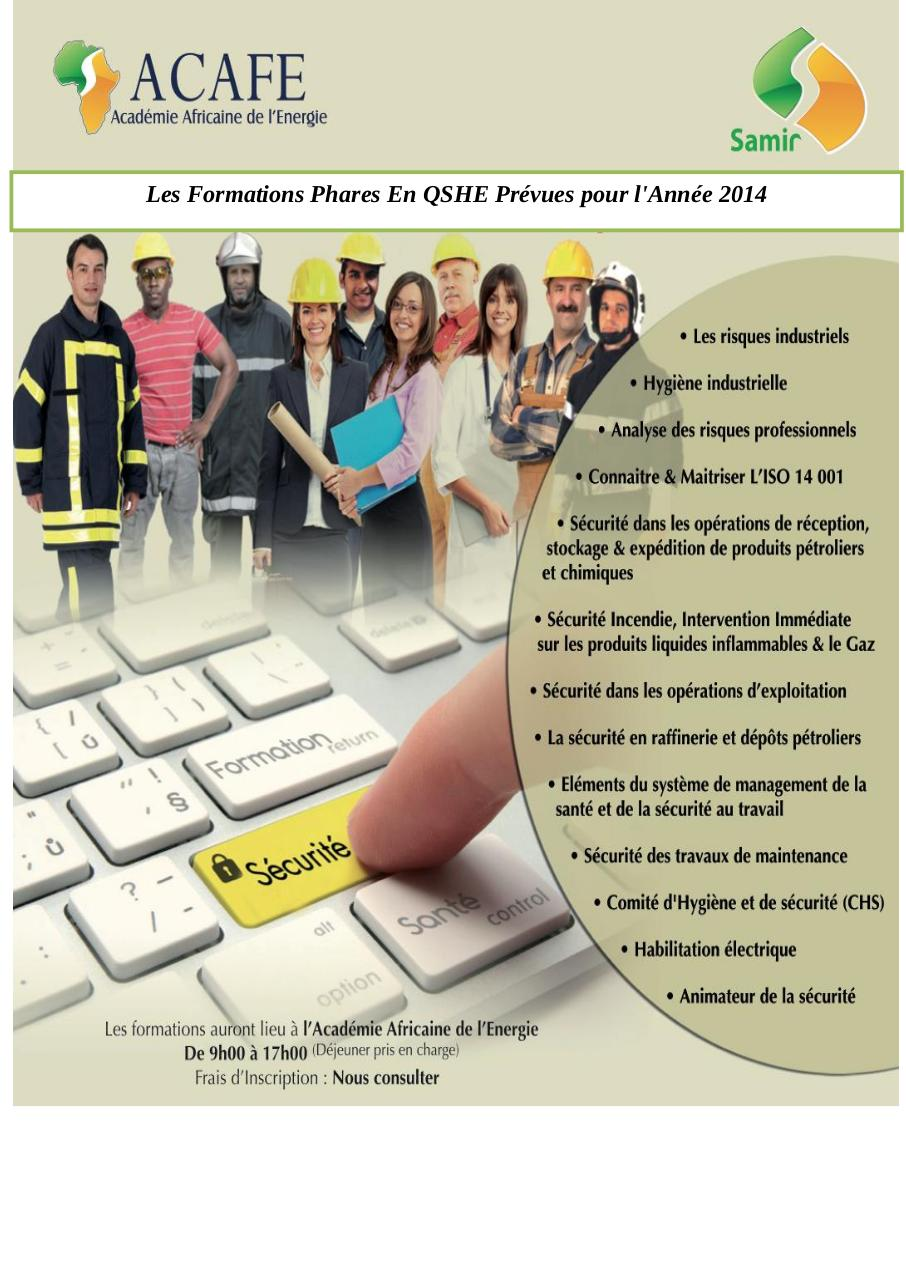 Catalogue des Formations ACAFE Du Groupe SAMIR 2014.pdf - page 1/6