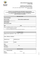 demande subvention culturel scolaire sociale 2014 1