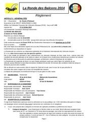 reglement ronde des balcons 2014