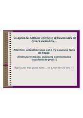 betisier scolaire