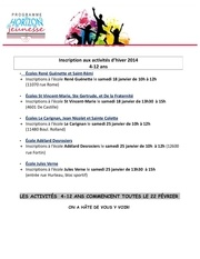 inscription activites