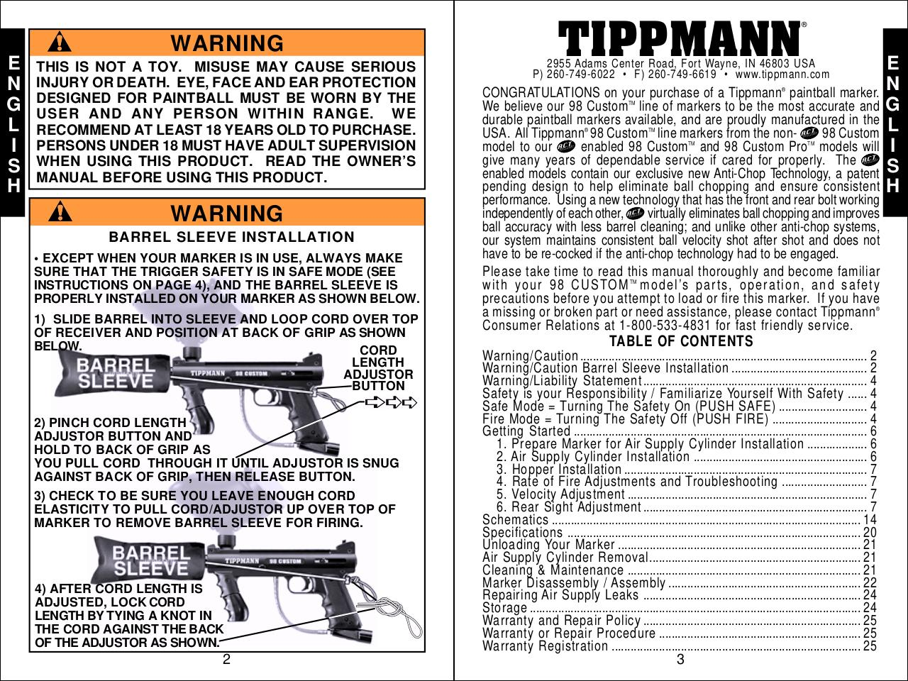 01 28 08 Toerich98customcombined Extendwarrantyto2years Par Rich Tippmann Model 98 Schematic Manualpdf Page 3 42