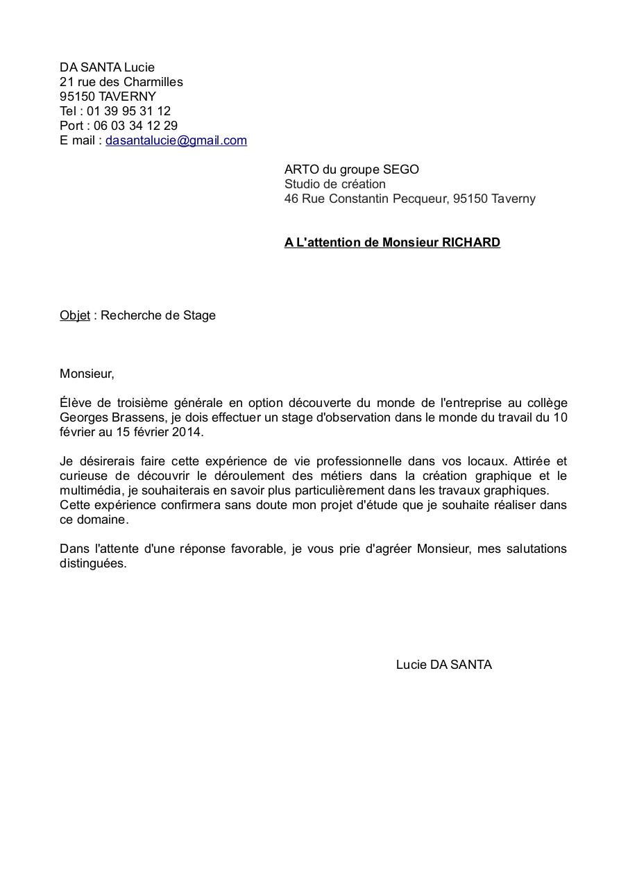 lettre de motivation arto  lettre de motivation arto pdf