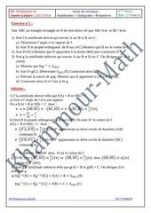 bac math serie de revision corrige 1