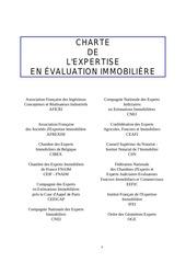 charte de l expertise en evaluation immobiliere
