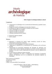 Fichier PDF profil de postecae
