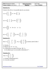bac info serie matrices